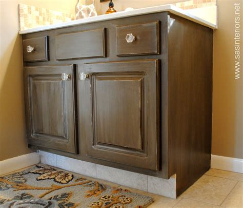 how to stain cabinets how to glaze a cabinet using stain burger