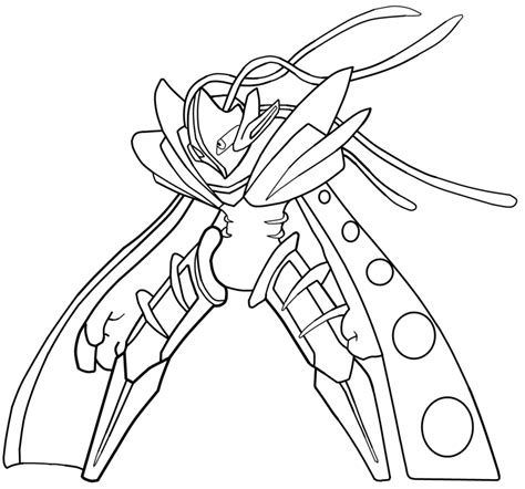 Deoxys Coloring Pages - Eskayalitim