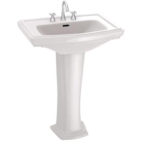 single pedestal sink toto clayton 27 in pedestal combo bathroom sink with