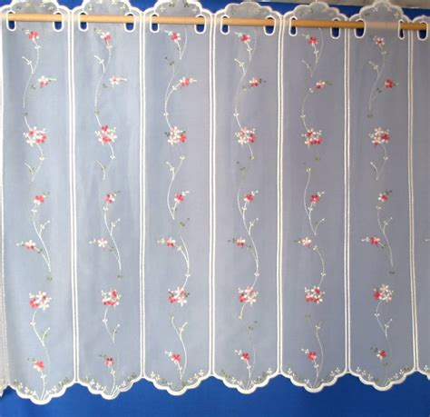 Cherry Blossom Curtains Uk by Cherry Blossom White Voile Cafe Curtain Net Curtain 2