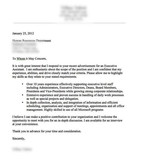 a cover letter exle resume