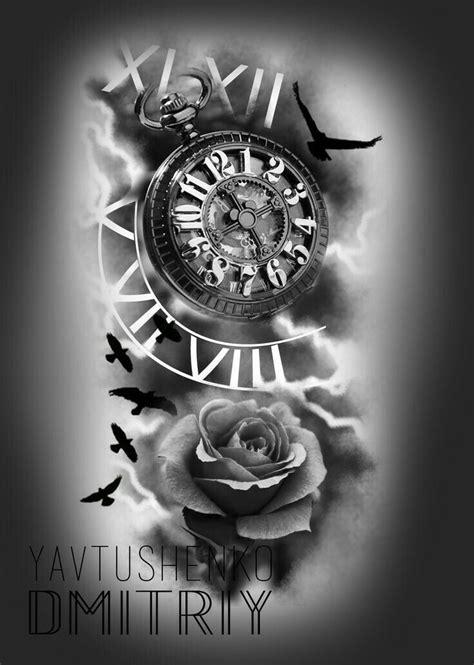Only time will tell our love is never ending | my love | Tatuajes de relojes, Tatuajes de rosas