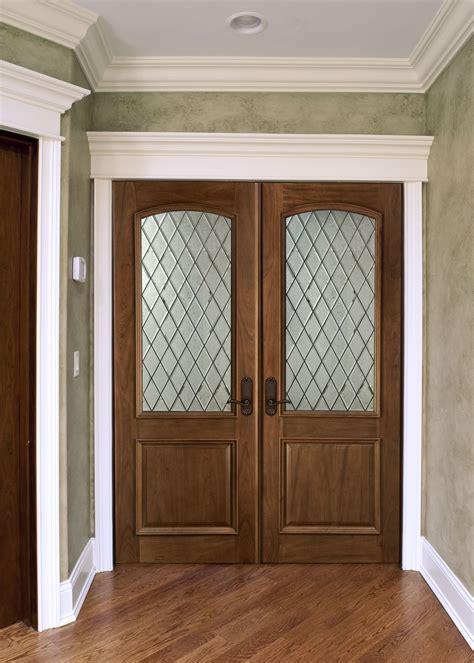 interior door custom double solid wood  walnut