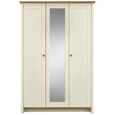 clovelly 3 door centre mirror wardrobe deal at wilko