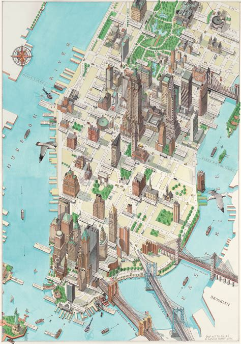 manhattan  york map  york mappery