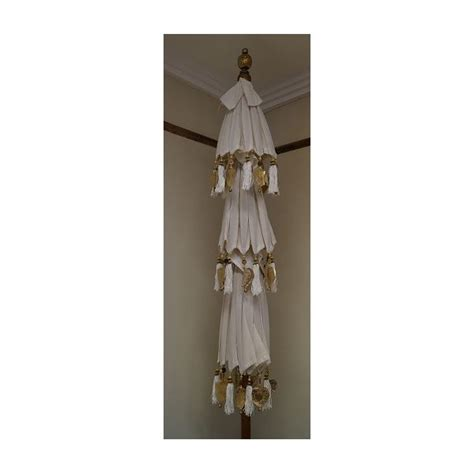 3 tiered white outdoor umbrella jade pagoda