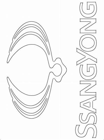 Coloring Ssangyong Pages Printable Motor Brand Emblem