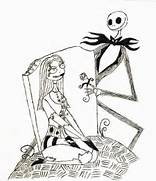Before Christmas Coloring Pages - Best Coloring Pages For Kids  Jack And Sally Coloring Pages
