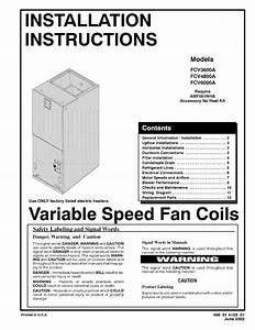Icp Air Handler  Indoor Blower U0026evap  Manual L0502497