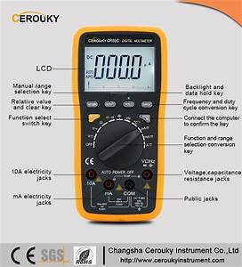 Digital Clamp Multimeter Vc890d Digital Multimeter Mas830b
