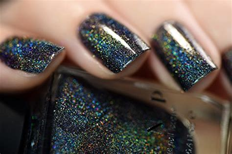 Black Holographic Nail Polish