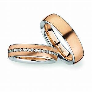 18ct rose gold platinum wedding rings christian bauer With platinum engagement ring gold wedding band