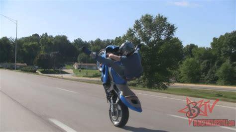 Longest Motorcycle Wheelie On Highway Street Bike Stunts