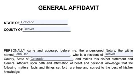 As this question comes up often and with so much misleading information. Sample Of Affidavit Form Free General Affidavit Template
