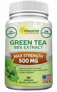 Green Tea Extract Supplement With Egcg - 180 Capsules