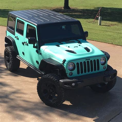 blue green jeep jeep wrapped in avery sw matte vintage green a k a