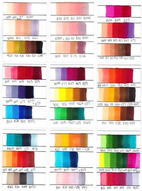 color combinations copic color combinations copic marker colour