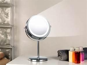 Stand Kosmetikspiegel Mit Beleuchtung : sichler beauty spiegel mit licht stand kosmetikspiegel mit 18 led 3 fache vergr erung ~ Bigdaddyawards.com Haus und Dekorationen