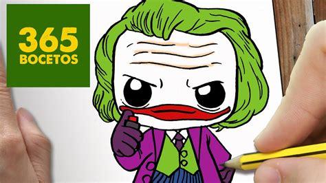 como dibujar joker kawaii paso a paso dibujos kawaii