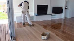 How To Paint A Wood Floor Paint or apply clear polyurethane or varnish to wood floor boards
