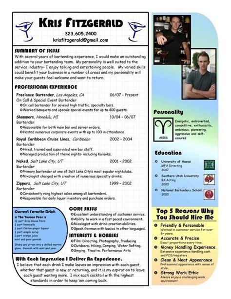 21334 bartending resume exles bartender resume exles bartender cv exle for restaurant