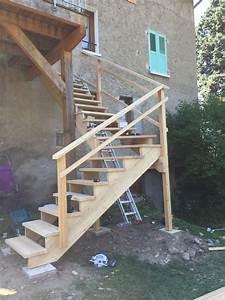 Escalier Extérieur En Bois : escalier menuiserie le bois des huiles c guillard ~ Dailycaller-alerts.com Idées de Décoration