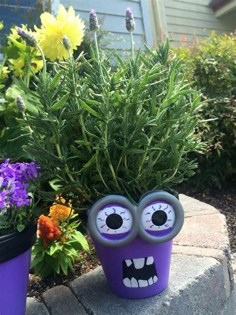 minion flower pot garden garden terracotta pots