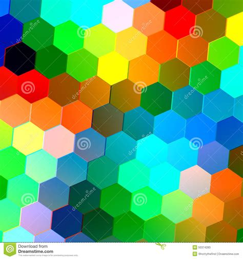 abstract seamless background with colorful hexagons