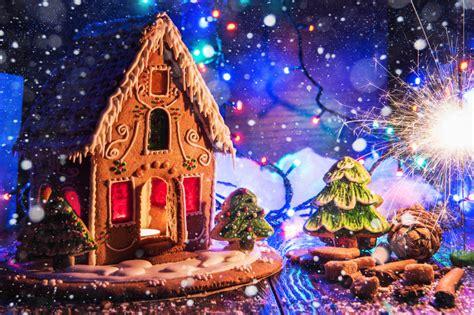 Maison En Pain D'épices Puzzle En Noël Et Nouvel An