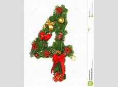 Weihnachtsalphabet Nr 4 stockfoto Bild von zweig