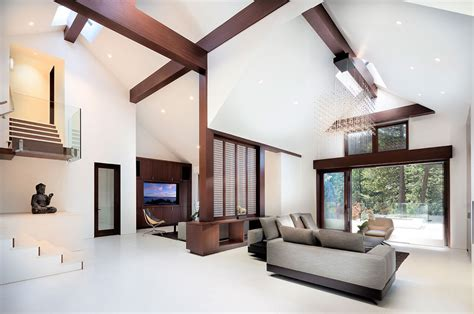 Decke Mit Holzbalken tour a lake tahoe home with a luxurious nonagon