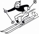 Ski Clip Resort Clipart Cliparts Library Skiing sketch template
