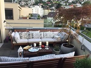 Balkon Lounge Möbel : ikea balkon pplar balkon mit aussicht ikea lounge m bel mit kissen kerzen silbertablett und ~ Whattoseeinmadrid.com Haus und Dekorationen