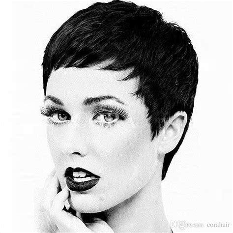 best product for pixie haircut sell cheap pixie cut human hair wigs with 2725