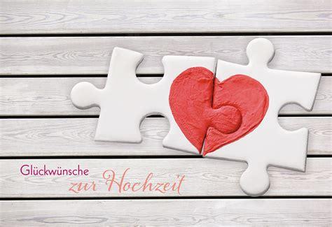 Weitere herzliche hochzeitsglückwünsche für eine gelungene gratulation zur vermählung. Glückwunschkarte Hochzeit Herz 6 St Kuvert Puzzle Liebe Trauung   eBay