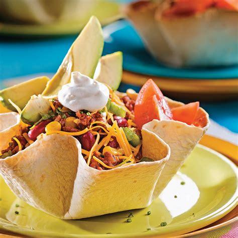 cuisine mexicaine tortillas salade mexicaine en fleurs de tortillas recettes