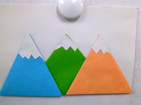 mountain craft maternelle mountain crafts cutting