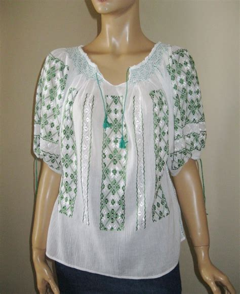 embroidered peasant blouse embroidered peasant blouse br 2008 green