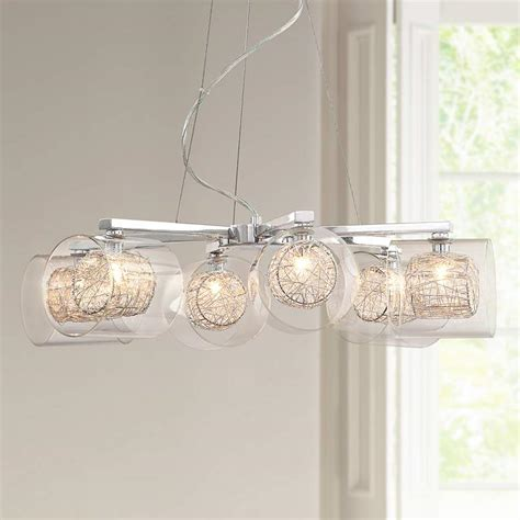 Possini Design Chandelier by Possini Design Wire And Glass Cylinder Chandelier