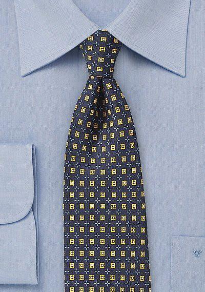 intricate foulard designer tie  midnight blue bows
