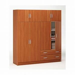 Armoire 4 Portes : armoire penderie rangement moderne 4 portes panel meuble magasin de meubles en ligne ~ Teatrodelosmanantiales.com Idées de Décoration