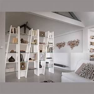 Bibliothèque Moderne Design : biblioth que design contemporain composition 3 modules laque et verre ~ Teatrodelosmanantiales.com Idées de Décoration