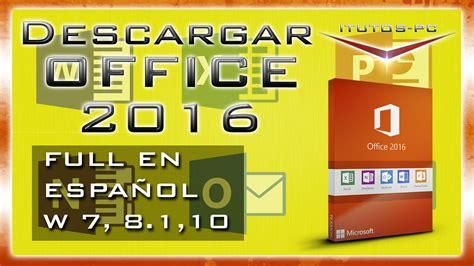microsoft office professional plus 2016 32 64 como descargar iso office professional plus 2016 pc en Descargar