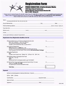 church conference registration form template template With sample workshop registration form template