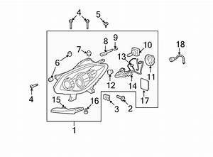 Buick Enclave Headlight Wiring Harness  2008 O