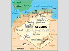 Map and National Flag of Algeria Picture Gallery