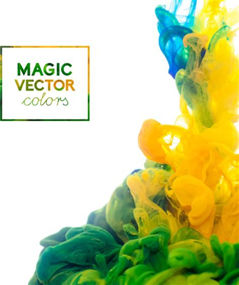 colorful magic colorful ink magic effect background vector free vector in