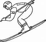 Skiing Freestyle Olympic Printable Coloring Template sketch template