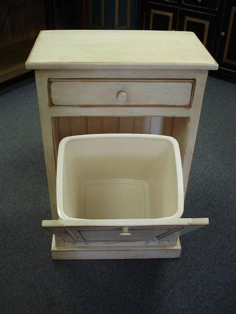tilt out trash bin storage cabinet amish tilt out trash can