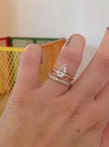 plain pear solitaire needing advice for wedding band With solitaire ring with plain wedding band